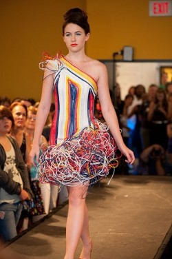 WIre Strips used as Fashion Fabric